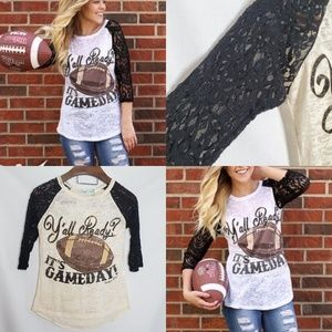 Southern Grace - Game Day Ready Lace 3/4 Sleeves